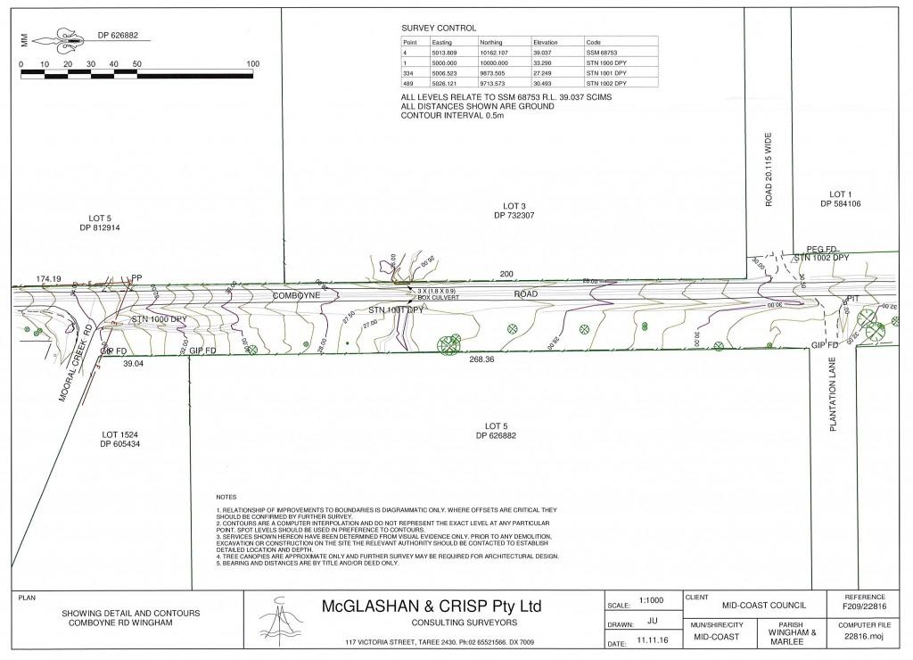 Comboyne Road Detail Survey